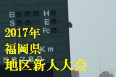 2017年 福岡県地区新人大会のイメージ